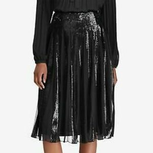 LAUREN RALPH LAUREN Shalonie Sequin Pleated Skirt